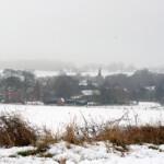Manuden in snow