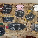 menu at Hardy's pub, Maylandsea