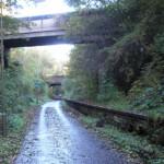 Old rail line to Granton docks