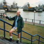 The author at the Thames Barrier