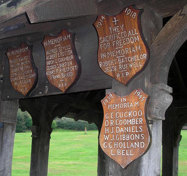 Ide Hill memorials