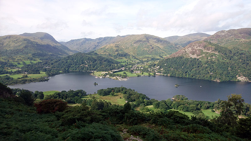 The Helvellyn range across Ullswater