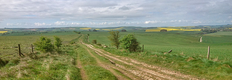 Looking south to Overton Hill