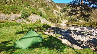 Wild camp in Glen Feshie